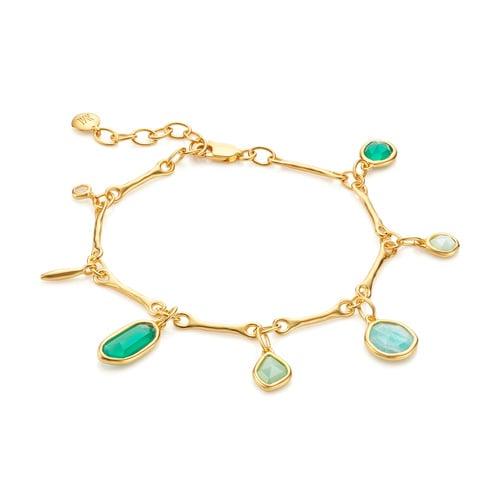 Gold Vermeil Siren Tonal Multi Drop Bracelet - Mix - Monica Vinader