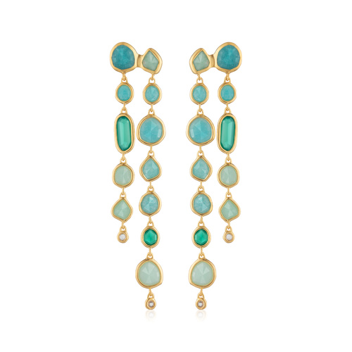 Gold Vermeil Siren Tonal Cocktail Earrings - Mix - Monica Vinader