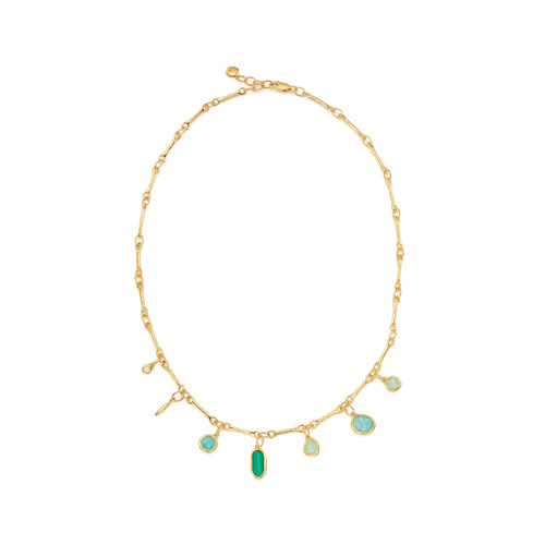 Gold Vermeil Siren Tonal Multi Drop Necklace - Mix - Monica Vinader