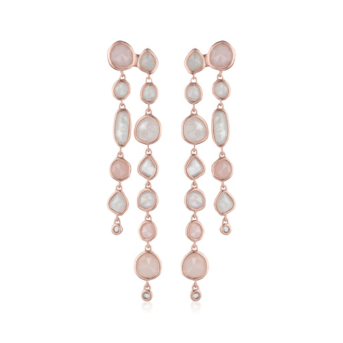 Rose Gold Vermeil Siren Tonal Cocktail Earrings - Mix - Monica Vinader