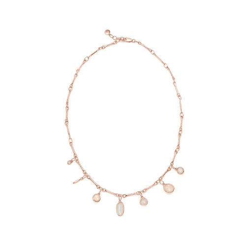 Rose Gold Vermeil Siren Tonal Multi Drop Necklace - Mix - Monica Vinader