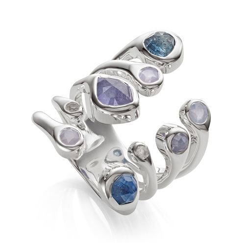 Sterling Silver Siren Tonal Cluster Cocktail Ring - Mix - Monica Vinader