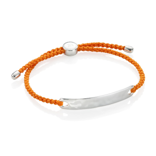 Havana Men's Friendship Bracelet - Tangerine - Monica Vinader