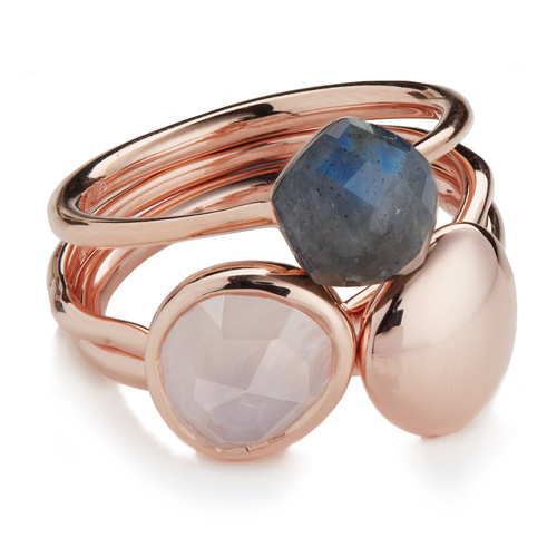 Nura and Siren Stacking Ring Set - Monica Vinader