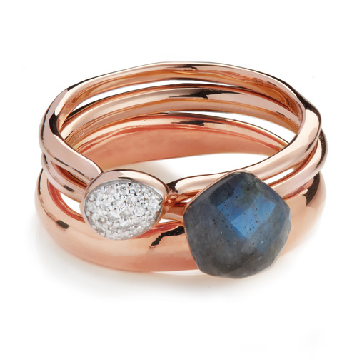Nura Stacking Ring Set - Monica Vinader