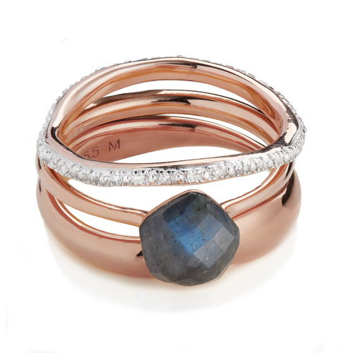 Nura and Riva Stacking Ring Set - Monica Vinader