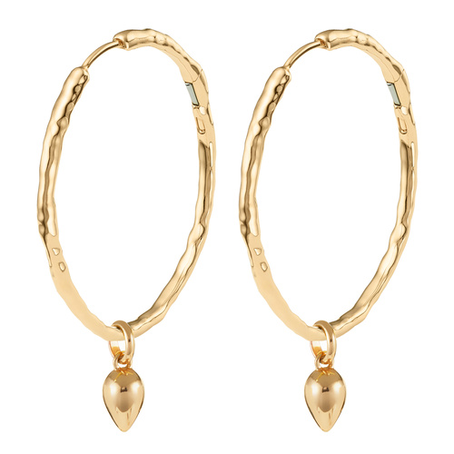 Gold Vermeil Siren Muse Large Hoop and Fiji Bud Earring Set - Monica Vinader