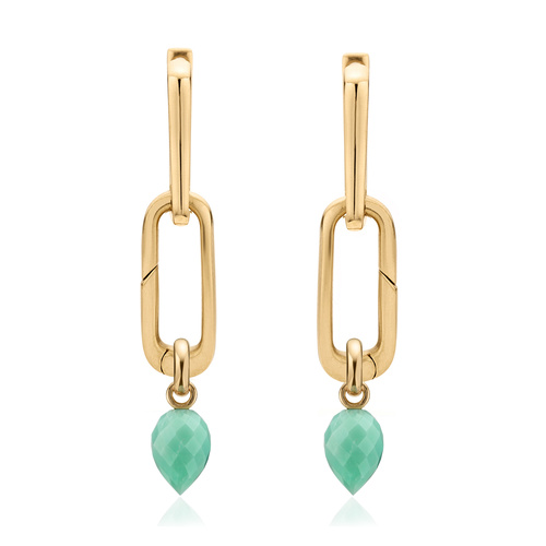 Alta Capture and Fiji Bud Earring Set-Mint Chrysoprase - Monica Vinader