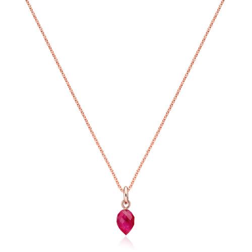Fiji Bud Necklace Set-Pink Quartz - Monica Vinader