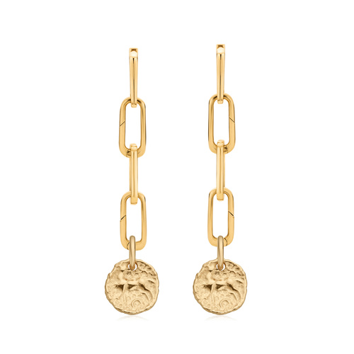 Gold Vermeil Alta Capture Charm Cocktail and Siren Small Coin Earring Set - Monica Vinader