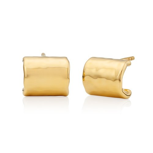 Gold Vermeil Siren Muse Huggie Hoop Earrings - Monica Vinader