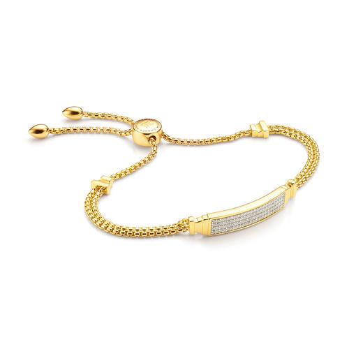 Gold Vermeil Baja Deco ID Full Diamond Bracelet - Diamond - Monica Vinader