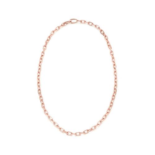 Rose Gold Vermeil Alta Capture Mini Link Necklace - Monica Vinader