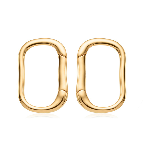 Gold Vermeil Alta Capture Stud Earrings - Monica Vinader