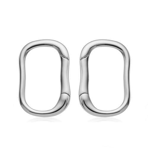 Sterling Silver Alta Capture Stud Earrings - Monica Vinader