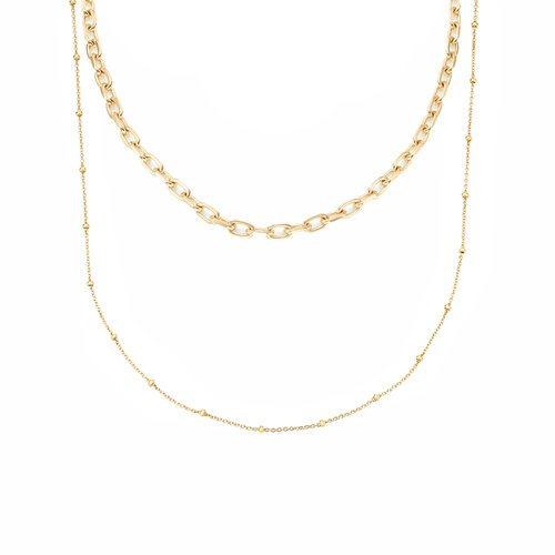 Alta Mini and Beaded Necklace Set - Monica Vinader