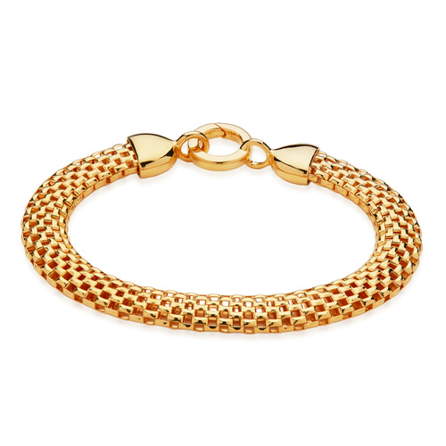 Gold Vermeil Doina Wide Chain Bracelet - Monica Vinader