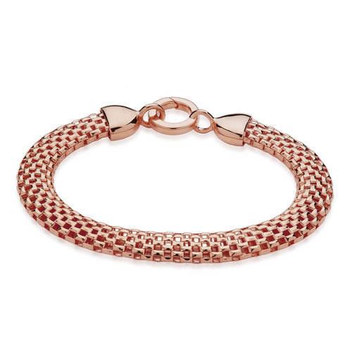 Rose Gold Vermeil Doina Wide Chain Bracelet - Monica Vinader