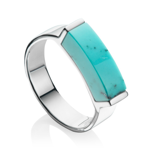 Linear Stone Ring - Turquoise - Monica Vinader
