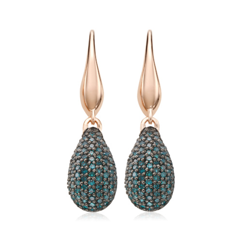 Rose Gold Vermeil Stellar Drop Earrings - Blue Diamond - Monica Vinader