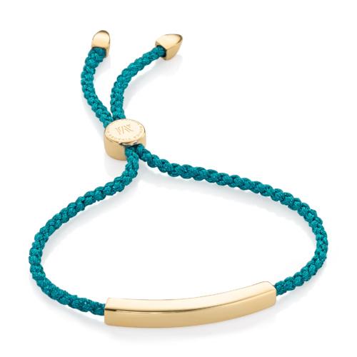 Gold Vermeil Linear Friendship Bracelet - Turquoise Metallica - Monica Vinader