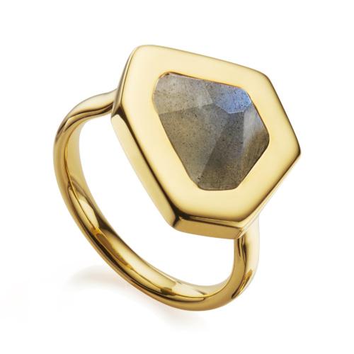 Gold Vermeil Petra Ring - Labradorite - Monica Vinader