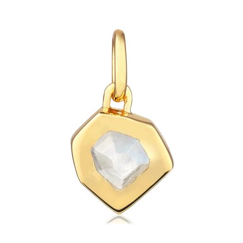 Gold Vermeil Petra Small Pendant - Moonstone - Monica Vinader