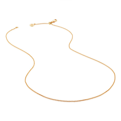 "Gold Vermeil Fine Chain 17""/43cm with adjuster - Monica Vinader"