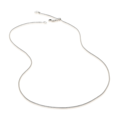 Sterling Silver Fine Oval Box Chain 18