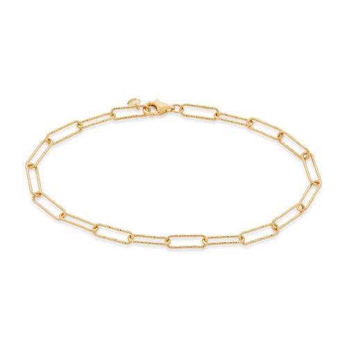 Gold Vermeil Alta Textured Chain Bracelet  - Monica Vinader
