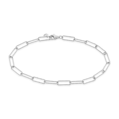 Sterling Silver Alta Textured Chain Bracelet  - Monica Vinader