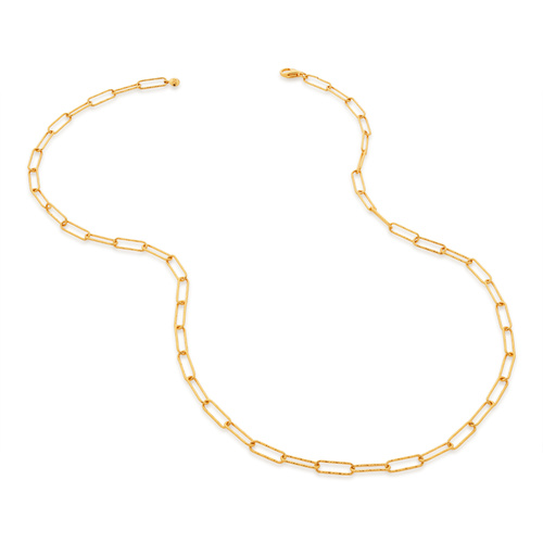 Gold Vermeil Alta Textured Chain Necklace - Monica Vinader