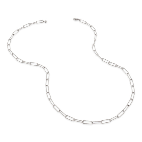 Sterling Silver Alta Textured Chain Necklace - Monica Vinader