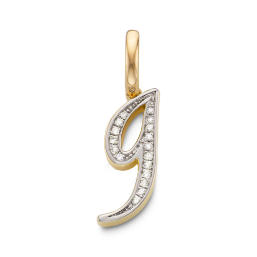 Gold Diamond Alphabet Pendant U Diamond Monica Vinader qzrAW1SxDo