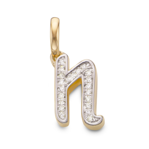 Sterling Silver Diamond Alphabet Pendant G Diamond Monica Vinader gDpSKhtU