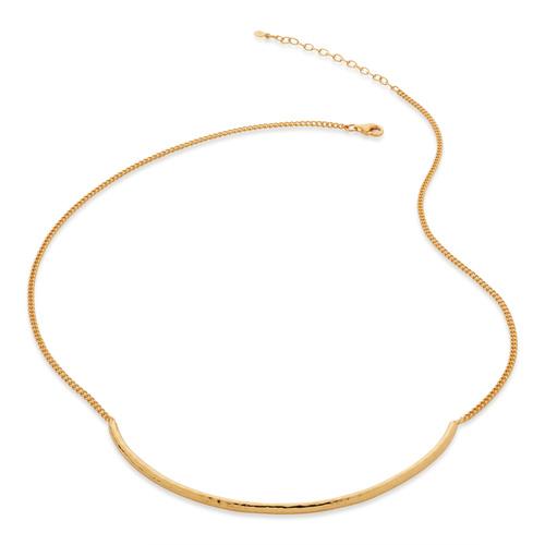 Gold Vermeil Deia Curve Necklace - Monica Vinader
