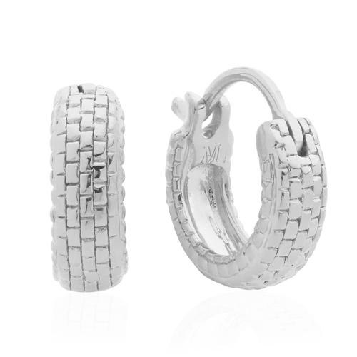 Sterling Silver Doina Huggie Earrings - Monica Vinader