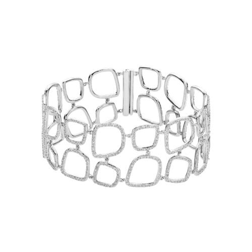 Riva Diamond Cluster Cuff - Diamond - Monica Vinader