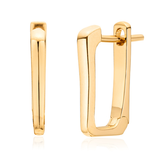 Gold Vermeil Alta Huggie Earrings - Monica Vinader