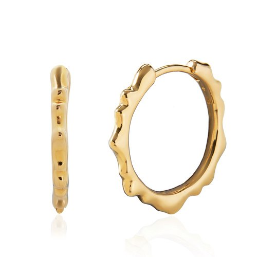 Gold Vermeil Siren Muse Small Hoop Earrings - Monica Vinader