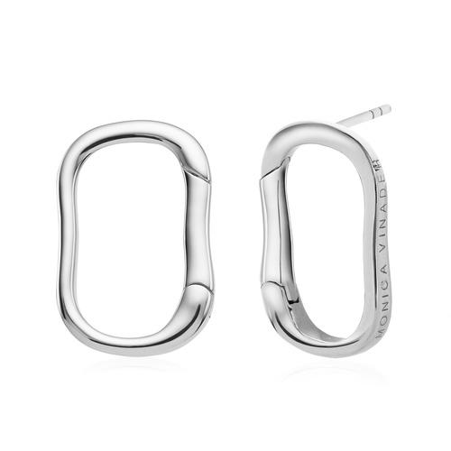 Sterling Silver Alta Capture Stud Earrings - Monica Vinader