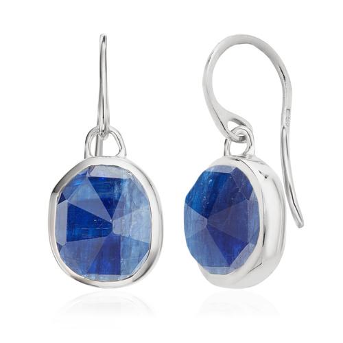 Sterling Silver Siren Wire Earrings - Kyanite - Monica Vinader