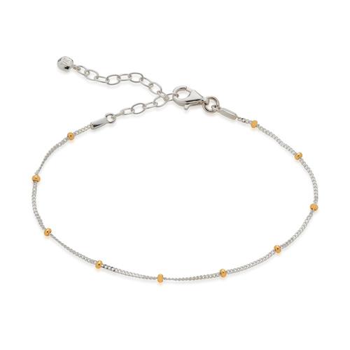 Sterling Silver Mixed Metal Beaded Chain Bracelet - Monica Vinader