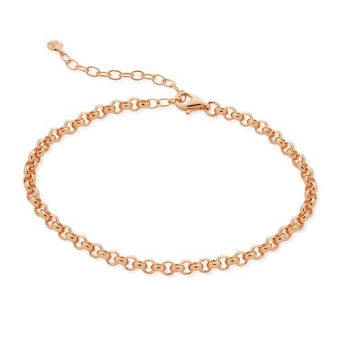 Rose Gold Vermeil Vintage Chain Bracelet - Monica Vinader