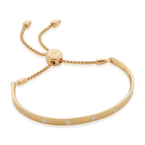 Gold Vermeil Fiji Gem Diamond Chain Bracelet - Diamond - Monica Vinader