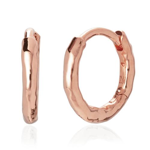 Rose Gold Vermeil Ziggy Huggie Earrings - Monica Vinader