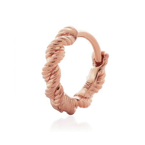 Rose Gold Vermeil Corda Single Huggie Earring - Monica Vinader