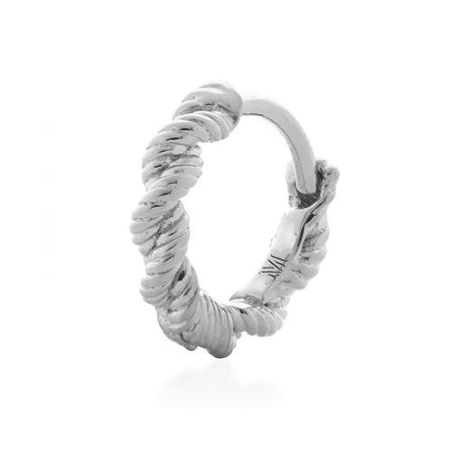 Sterling Silver Corda Single Huggie Earring - Monica Vinader