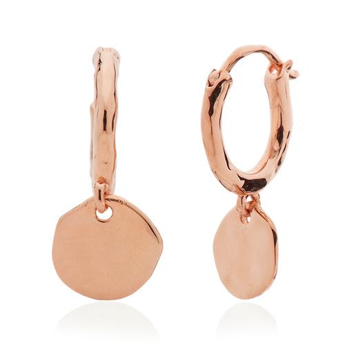 Rose Gold Vermeil Siren Muse Mini Drop Huggie Earrings - Monica Vinader