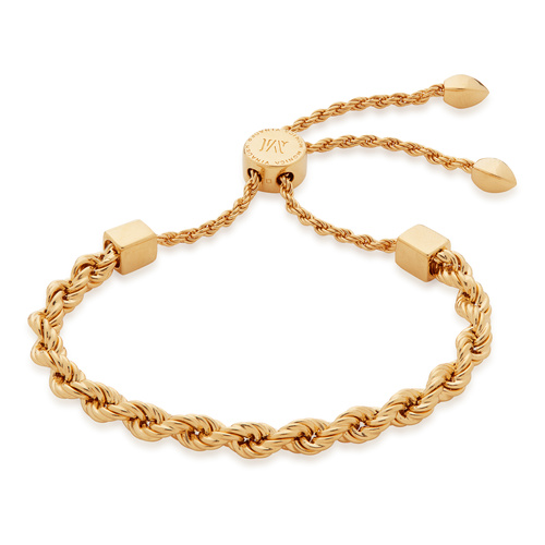 Gold Vermeil Corda Friendship Chain Bracelet - Monica Vinader